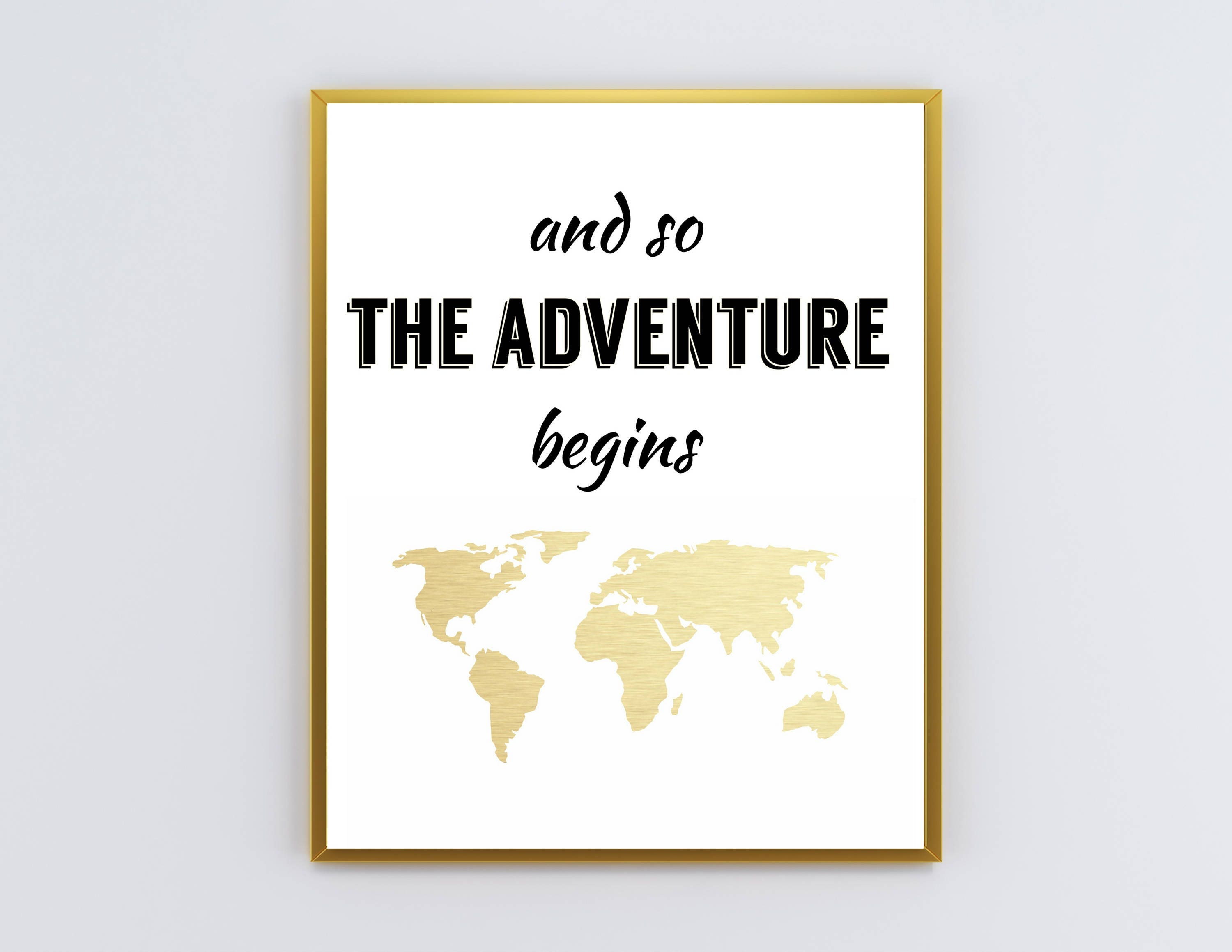 And So The Adventure Begins Printable Wall Art New Year Etsy