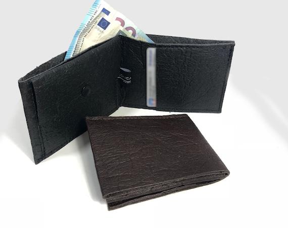 PINATEX® wallet black or brown sustainable design men's wallet ∣BAG#132
