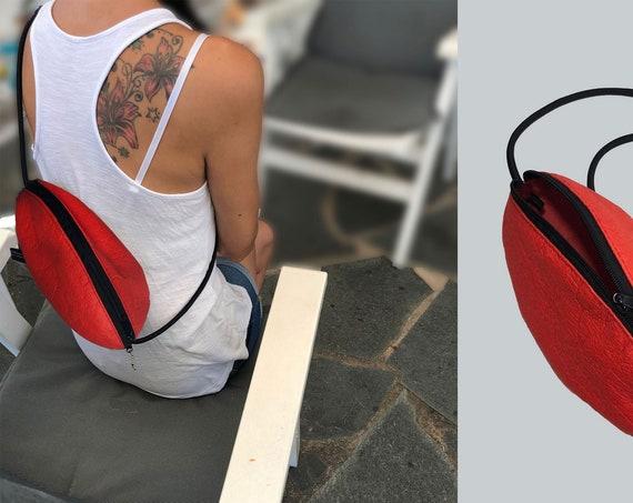 small handbag pouch bag handbag red, black or brown RUGBY BAG gift for women |BAG # 17