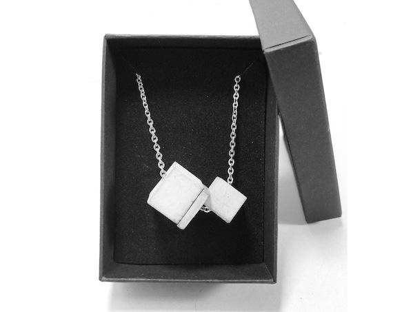 Chain necklace SILVER CHAIN Concrete jewelry minimalist design