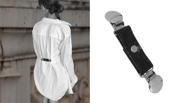Small belt Mini belt made of Pinatex® for attaching to blouses or jackets at the back or front