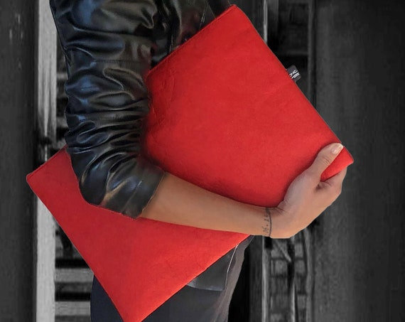 Messengerbag bag for laptop briefcase red made of PINATEX® gift for Frauen∣BAG#133