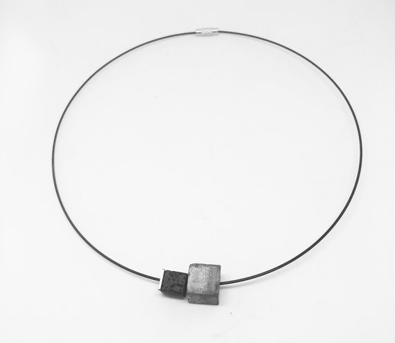 Choker Chain Necklace concrete jewelry gray made of concrete optionally with gold or silver