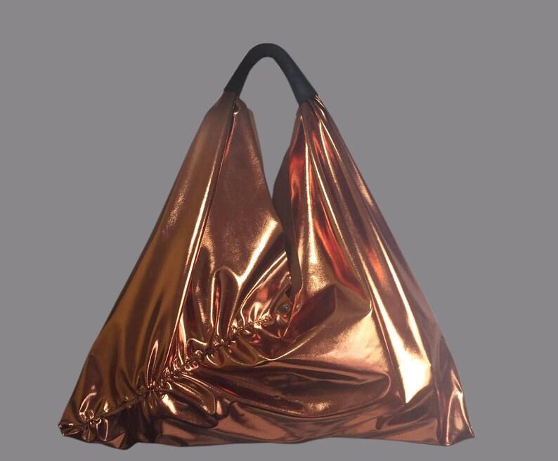 TRAPEZ Bag Shopper tote bag copper metalic \u2223BAG#96