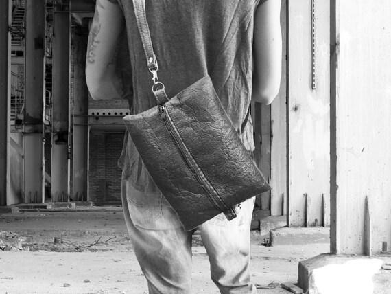 Casual handbag ANA black, red or brown made of PINATEX® gift for women + men unisex |BAG # 26