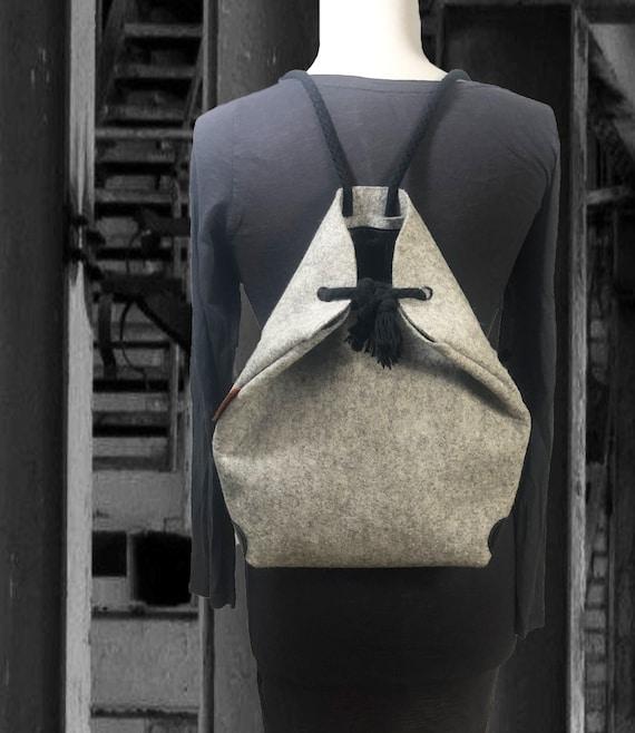 Backpack CROSSBODY Wool felt bag 100% merino wool gift Unisex∣BAG#98