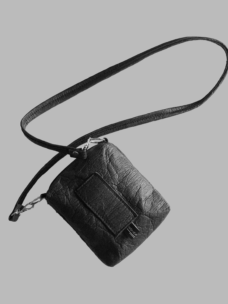 Handbag belt pouch bag for the belt black red or brown from Black
