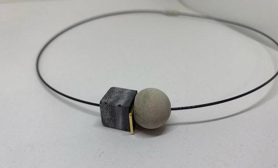 Choker Chain Necklace Concrete Jewelry Concrete Minimalist Design gift for women