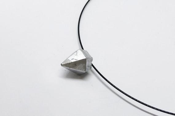 Choker Chain Necklace Concrete Jewelry silver Concrete Minimalist Design gift for women