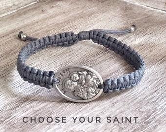 St.Joseph bracelet, Christian Bracelet, St Peregrine, St Joseph, St Sebastian, Saint Bracelet, St Rita, St Gerard,  St Dymphna, St Thomas
