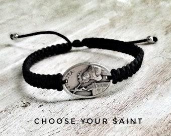 St Rita Bracelet, Catholic bracelet, Saint Bracelet, Patron Saint, Saint Rita of Cascia, St Rita medal, saint medals, St Peregrine, St Anne