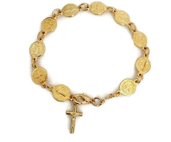 Catholique all saints bracelet Saint patron médailles Chapelet Bracelet Religieux Cadeau