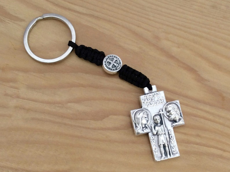 Patron Saint of Travel Travel Gift Gift For Him St Christopher Keychain Bon Voyage Graduation Gift New Car Gift For Her College Gift