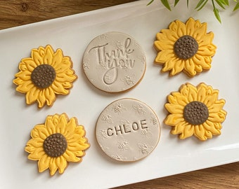 Sunflower Birthday Biscuits, Get well soon, miss you gift, Thinking of you, Letterbox Gift, Vegan