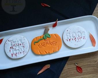 Cute Halloween Biscuits, Trick or Treat, Halloween Gift, VEGAN gift!