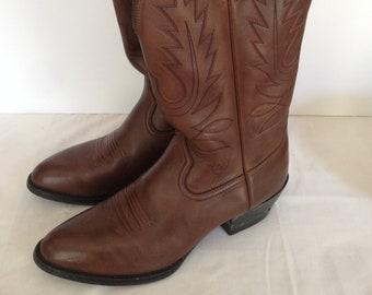 Ariat Women's Brown Cowboy Boots Size 8.5