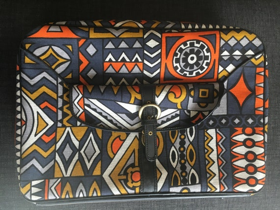 1970's Printed Small Suitcase