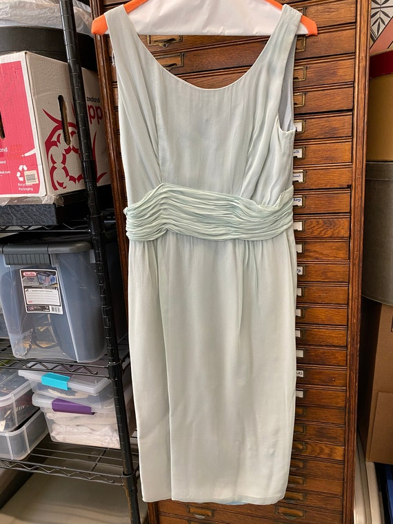 Blue Chiffon Cocktail Dress - image 2