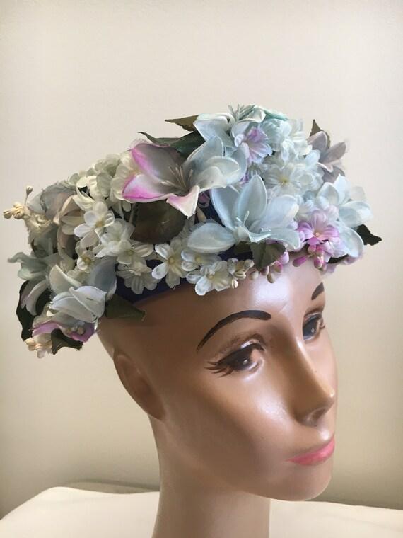 Christian Dior Flower Pill Box Chapeaux Hat
