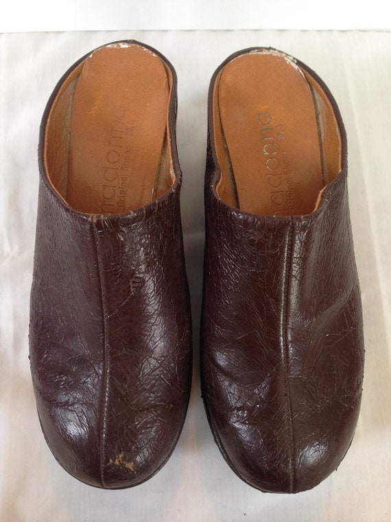 1970 Brown Platform Clog Shoes