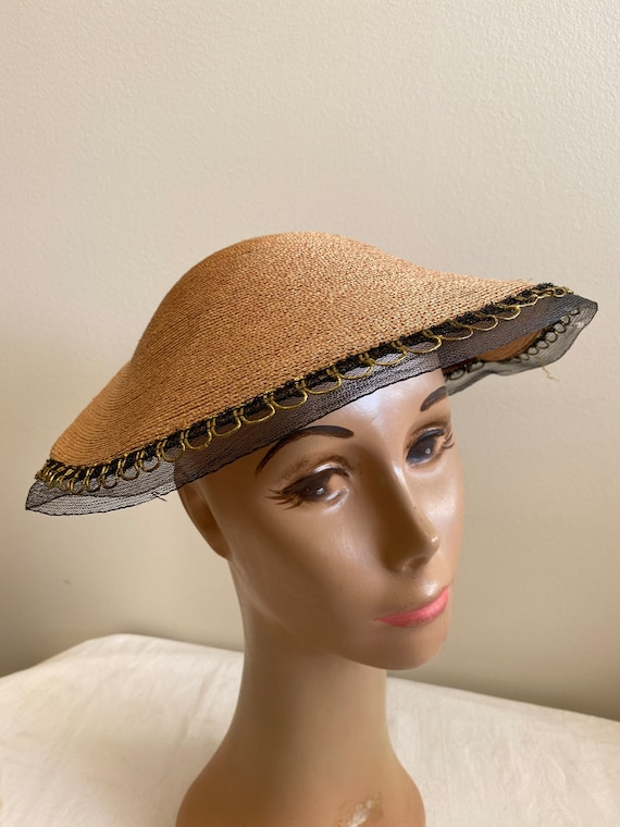 Collapsible Woven 1940's Ladies Hat