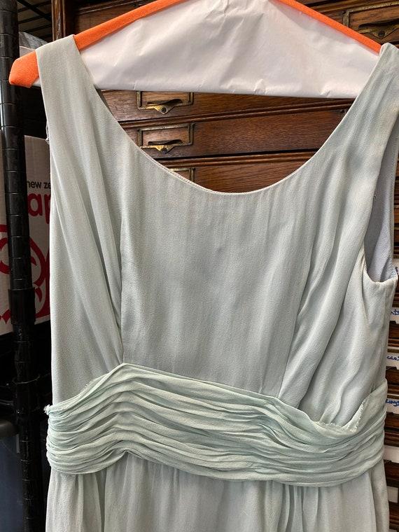 Blue Chiffon Cocktail Dress - image 3