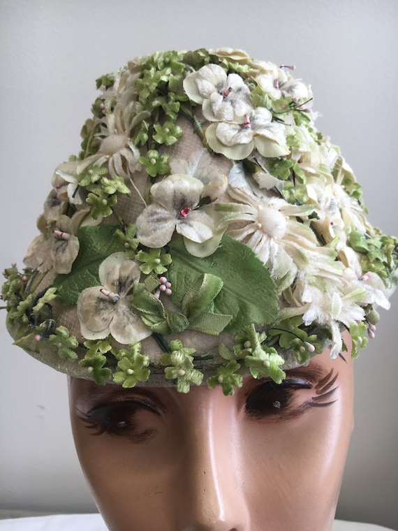 Women's Spring Flower Coolie Hat