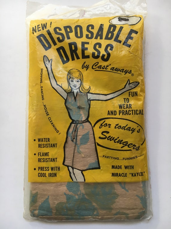 1960's Go Go Girl Hippie Paper Dress