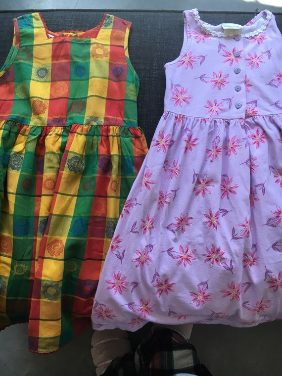 2 Laura Ashley Girls Summer Dresses Size 4 Years