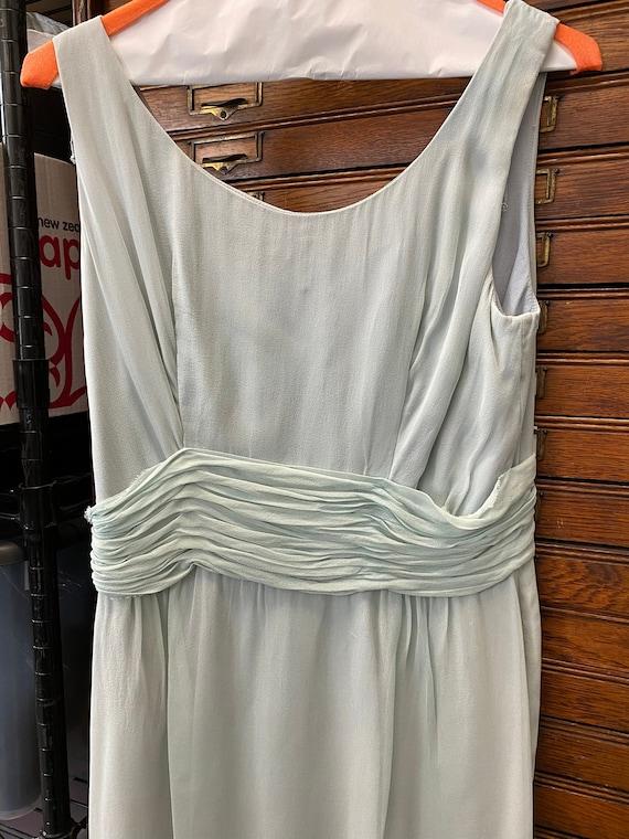 Blue Chiffon Cocktail Dress - image 1