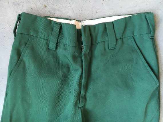 1950's Green Campus Cuffed Pants