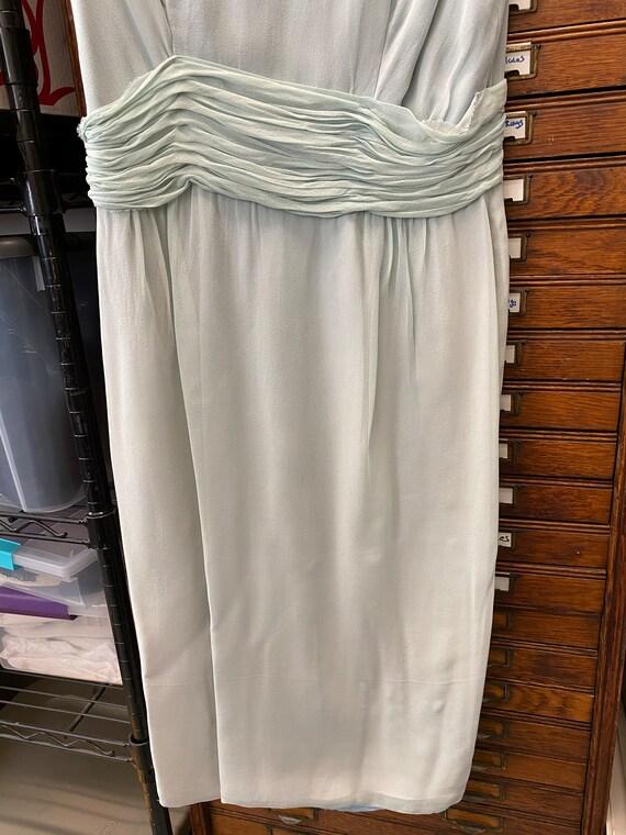 Blue Chiffon Cocktail Dress - image 4