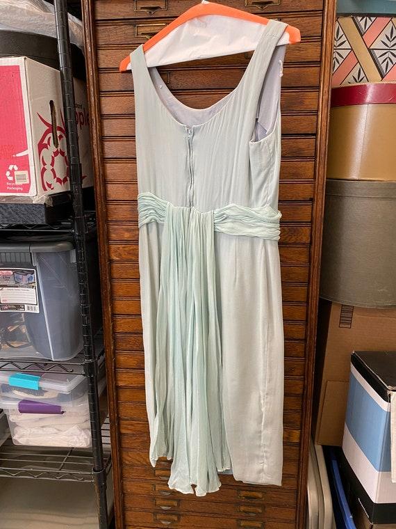 Blue Chiffon Cocktail Dress - image 7