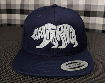 California Bear Embroidered High Quality Snapback Hat/Cap