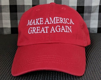 Make America Great Again Embroidered High Quality Dad Hat/Cap