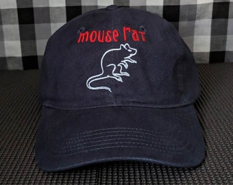 Mouse Rat Embroidered Navy Blue Dad Hat/Cap