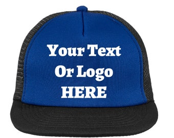 Your Text Or Logo Here Foam-Front Trucker Hat High Quality Custom Vinyl Various Colors Snapback Mesh-Back