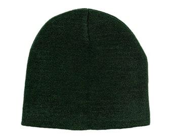 Blank Dark Green Skull Cap/Beanie