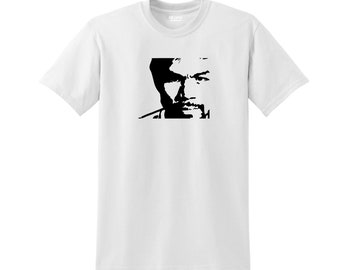 PacMan Manny Pacquiao Face Silhouette Tagless Heat Pressed Vinyl High Quality T-Shirt Various Colors 50/50 Cotton/Polyester