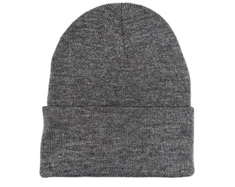 Blank Athletic Oxford Gray Fold Knit Beanie/Cap