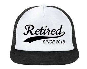 Retired Since 2018 Customize Your Own Foam-Front Trucker Hat High Quality Vinyl Various Colors Snapback Mesh-Back