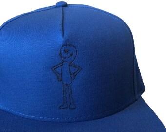 Mr. Meseeks Outline Royal Blue Embroidered Hat/Cap