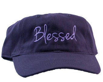 Blessed Embroidered Soft Bamboo Hat/Cap