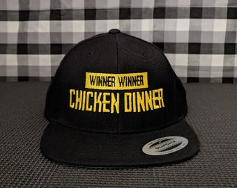 Winner Winner Chicken Dinner Embroidered Snapback Hat/Cap