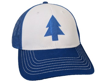 Blue Pine Tree Cosplay Embroidered 6-Panel Hat/Cap