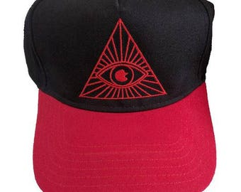 Illuminati Eye Triangle Embroidered 5-Panel Hat/Cap