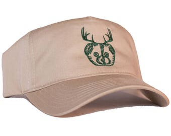 Beer Bear Deer Embroidered 5-Panel Hat/Cap