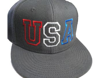 USA Red White and Blue Embroidered Hat/Cap