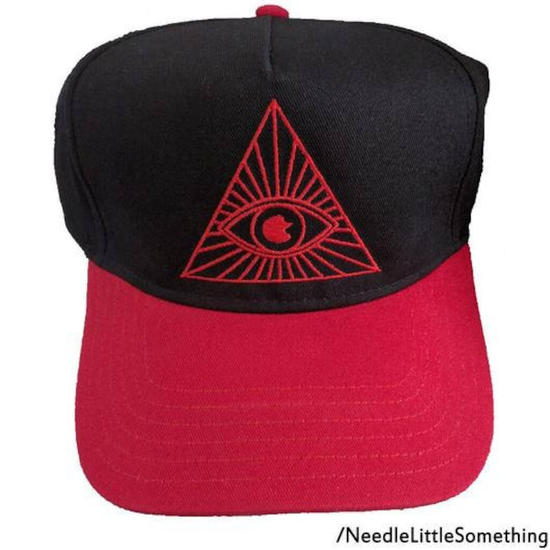 881d583202b Illuminati Eye Triangle Embroidered 5-Panel Hat Cap