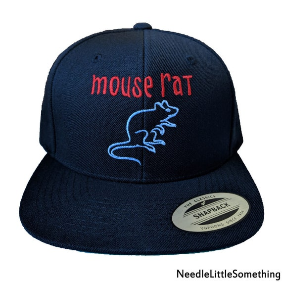 7842c93fdcf Mouse Rat Embroidered Snapback Hat Cap